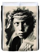 Young Faces From The Past Series By Adam Asar, No 109 Duvet Cover