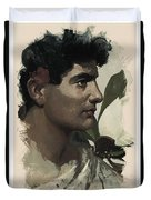 Young Faces From The Past Series By Adam Asar, No 115 Duvet Cover