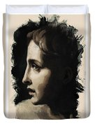 Young Faces From The Past Series By Adam Asar, No 117 Duvet Cover