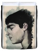 Young Faces From The Past Series By Adam Asar, No 14 Duvet Cover