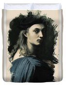 Young Faces From The Past Series By Adam Asar, No 32 Duvet Cover