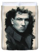 Young Faces From The Past Series By Adam Asar, No 33 Duvet Cover
