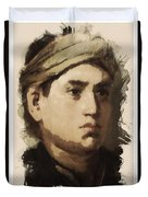 Young Faces From The Past Series By Adam Asar, No 36 Duvet Cover
