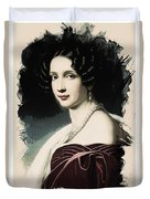 Young Faces From The Past Series By Adam Asar, No 37 Duvet Cover