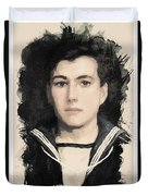Young Faces From The Past Series By Adam Asar, No 48 Duvet Cover