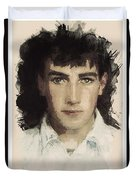 Young Faces From The Past Series By Adam Asar, No 61 Duvet Cover