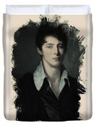 Young Faces From The Past Series By Adam Asar, No 62 Duvet Cover