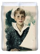 Young Faces From The Past Series By Adam Asar, No 66 Duvet Cover