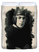 Young Faces From The Past Series By Adam Asar, No 67 Duvet Cover