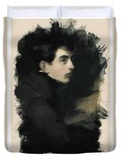 Young Faces From The Past Series By Adam Asar, No 68 Duvet Cover