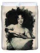 Young Faces From The Past Series By Adam Asar, No 70 Duvet Cover