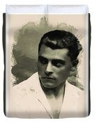 Young Faces From The Past Series By Adam Asar, No 73 Duvet Cover