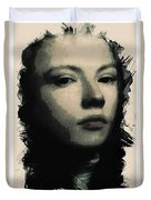 Young Faces From The Past Series By Adam Asar, No 75 Duvet Cover