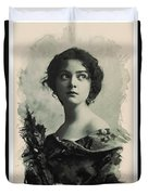 Young Faces From The Past Series By Adam Asar, No 82 Duvet Cover