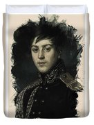 Young Faces From The Past Series By Adam Asar, No 9 Duvet Cover