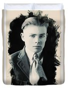 Young Faces From The Past Series By Adam Asar, No 90 Duvet Cover