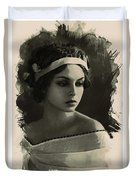 Young Faces From The Past Series By Adam Asar, No 92 Duvet Cover