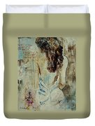 Young Girl  64 Duvet Cover