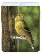 Young Goldfinch Duvet Cover