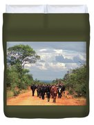 Young Herders, Zambia Duvet Cover