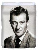 Young John Wayne, Hollywood Legend Duvet Cover