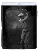 Young Knickerbocker Golfer Duvet Cover