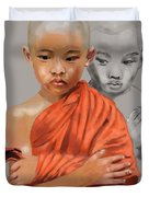 Young Lama Duvet Cover