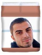 Young Man Portrait Duvet Cover