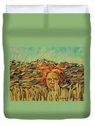 Young Man With A Corn Flower Duvet Cover