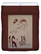 Young Nfl Montana Duvet Cover