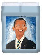 Young President Obama Duvet Cover