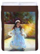Young Queen Esther Duvet Cover by Talya Johnson