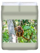 Young Red Howler Monkey Duvet Cover