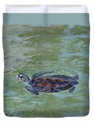Young Sea Turtle Duvet Cover