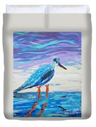 Young Seagull Coastal Abstract Duvet Cover