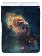 Young Stars Flare In The Carina Nebula Duvet Cover