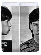 Young Steven Tyler Mug Shot 1963 Pencil Photograph Black And White Duvet Cover
