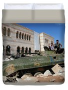 Young Syrian Boys On Top Duvet Cover