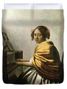 Young Woman At A Virginal Duvet Cover