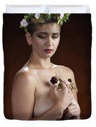 Young Woman Nude 1729.176 Duvet Cover