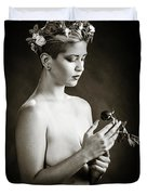 Young Woman Nude 1729.550 Duvet Cover