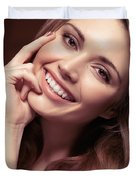 Young Woman With A Natural Smile Duvet Cover