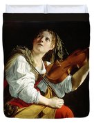 Young Woman With A Violin Duvet Cover