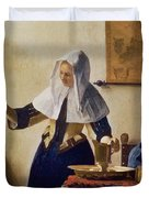 Young Woman With A Water Jug Duvet Cover by Jan Vermeer