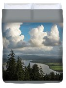 Youngs Bay And Clouds Duvet Cover