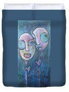 Your Haunted Heart And Me Duvet Cover