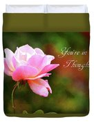 Your In My Thoughts Painting Duvet Cover