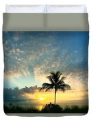 You're Never Alone With A Sunrise Duvet Cover