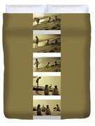 Youth At The Water Duvet Cover