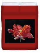 Youtube Video - Red Parrot Tulip Duvet Cover